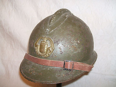 WW2 French Adrian Helmet - With Liner and Chinstrap