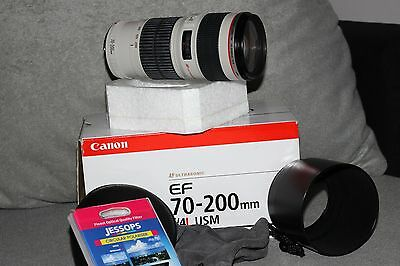 Canon EF 70-200mm F/4.0 L USM Lens + polariser filter