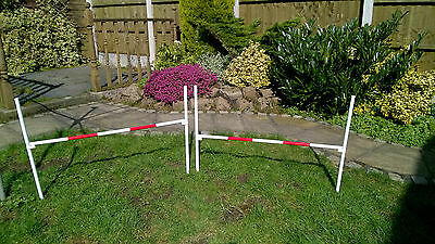 SALE X Set of 2 x Dog Agility Stake Jumps Adjustable Height by projump canine