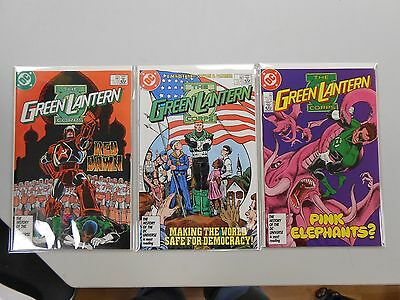 The Green Lantern Corps comic lot of 3! #'s 209-211! VF/NM9.0- or better! DC!