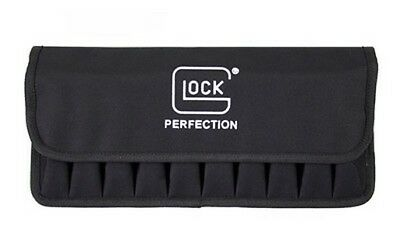 Glock AP60221 Black Nylon Front Flap Logo Mag Pouch Holds Up To 10 Magazines