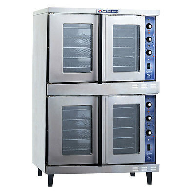 Bakers Pride GDCO-E2 Cyclone Dual Deck Electric Convection Oven - 208v/3ph