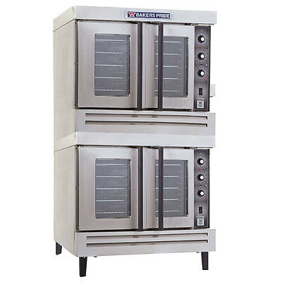 Bakers Pride BCO-G2 Cyclone Full Size Gas Dual Deck Convection Oven - LP