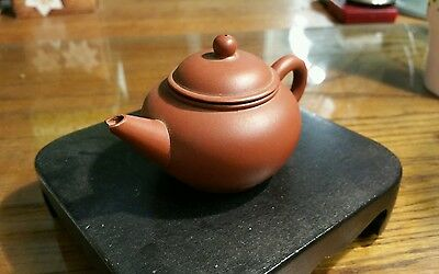 Antique Old Chinese YiXing Red Clay Teapot Signed