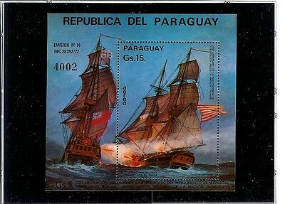 """Paraguay  SS # 1624  MNH F-VF """"American Independence""""  15 GS Value 1975 issue"""