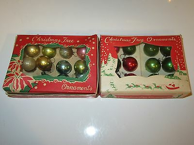 23 Vtg Feather Tree Miniature Christmas Glass Ball Ornaments - 3/4""