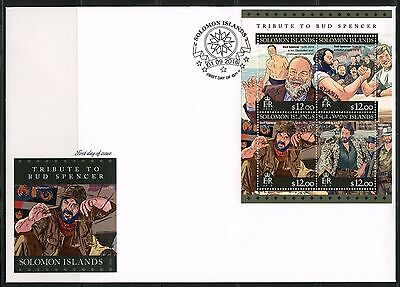 Z08 SLM16302a SOLOMON ISLANDS 2016 Bud Spencer MNH FDC First Day Cover