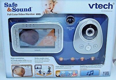 Vtech Safe&Sound full color video baby monitor VM342 New!!