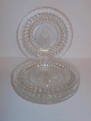 4 x Vintage Style Glass Saucer Style Design Cup Cake Muffin Plates Lovely