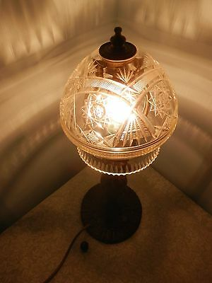 Antique Edwardian Cut Crystal Lamp Shade with the clip-on fitting