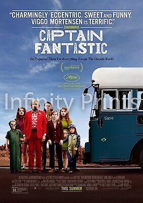 Captain Fantastic Movie Film Poster A3 A4