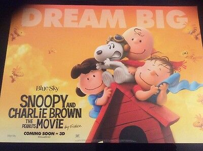 Cinema Poster: SNOOPY & CHARLIE BROWN THE PEANUTS MOVIE 2015 A3  Promotional