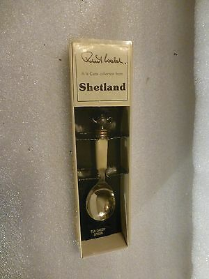 Robert Welch Shetland Collection Silver Plated Teapot Finial Tea Caddy Spoon