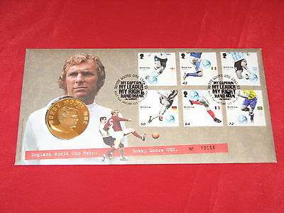 World Cup Bobby Moore Coin And Postal Cover