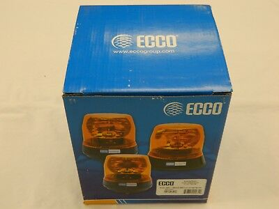 ECCO 5813A-MG Amber Halogen Belt Driven Rotating Beacon Magnetic Mount