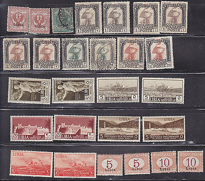 LIBYA 27 Stamps Issued 1912-1940, Mostly Mint