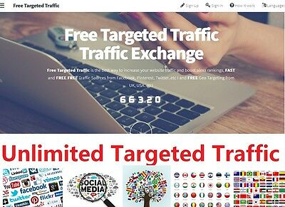 SEO Unlimited Geo Targeted website traffic Boost Alexa Rank Make Money System