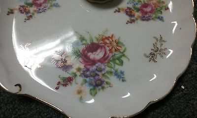 Leniwile Fine China Ardalt Hand Painted Floral Plate with Cup & Teacup*Set Of 3*