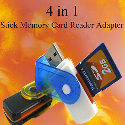 USB Micro Adapter 4 In 1 TF SD Card Reader For M2 SD SDHC Mini SD TF Cards