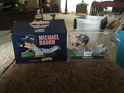 MLB Michael  Bourn Bobblehead Doll NEW in Box Shearer Snacks Cleveland Indians