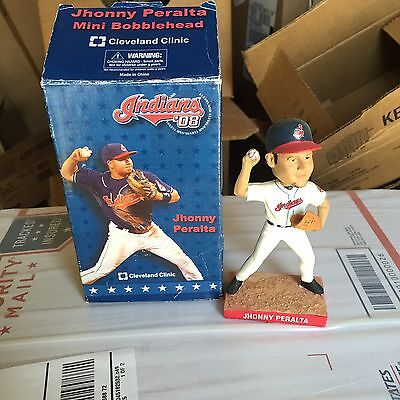 Cleveland Indians Jhonny Peralta mini bobble head new in box