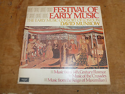 A Festival of Early Music, 14thC, Crusades, Maximillia David Munrow 3 LP Box Set