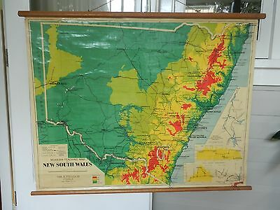 Vintage Chas H. Scally NSW School Map