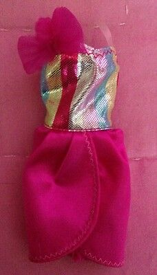 Pink And Silver Barbie Doll Dress