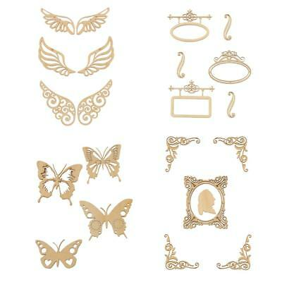 Vintage Unfinished Blank Butterfly Wood Shapes for Scrapbooking Arts DIY Craft