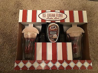 New Ice Cream Float Soda Set A&W Root Beer