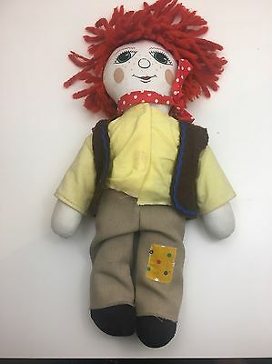 ROSIE and JIM Toy JIM ONLY - Canal Narrow Boat Jim Beanie Plush Doll