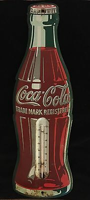 "Antique Tin Thermometer Coca-Cola Coke 17"" Advertising Sign, R-5-55"