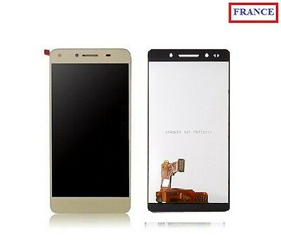 Ecran Complet Vitre Tactile Or + Lcd Huawei Honor 7 (#a84#)