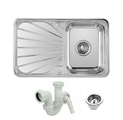 Double Bowl 1.5L Stainless Steel Kitchen Sink With Complete Plumbing Drainer Kit