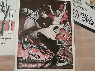 WW 11 Vintage Retro Hitler Cartoon Poster  Good Condition.in Sleeve