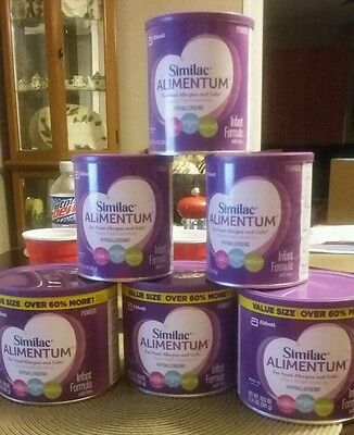 6 Cans Similac Alimentum Baby Infant Formula Bonus Size (3) 19.8Oz Powder 3 12.1