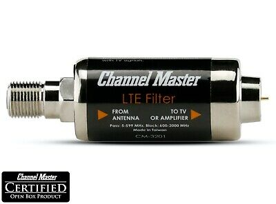 Channel Master LTE Filter Improves TV Antenna Signals No Interference CM-3201