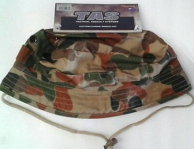 Tas Giggle Hat S/m/l/xl Auscam Short Double Layer Brim 100% Cotton Military Spec