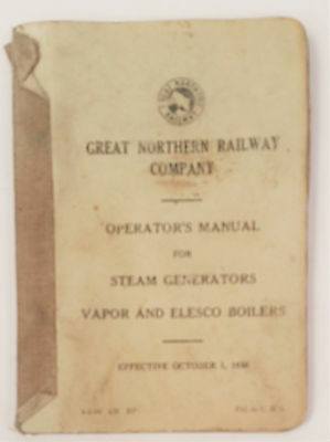 1950 - Great Northern Railway Company - Operator's Manual for Steam Generators