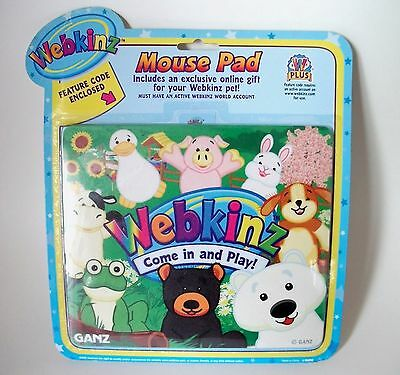 """Computer Mouse Pad Childrens WEBKINZ """"Country Living"""" Farm Animals"""