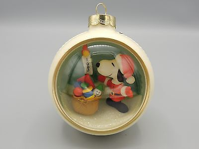1983 Hallmark Snoopy Panorama Ball Xmas Ornament 5th and Final in Series Peanuts