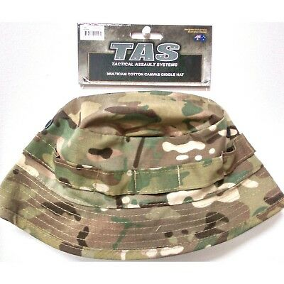 Tas Giggle Hat Multicam Size Large Short Brim Mil Spec 100% Cotton With Vents