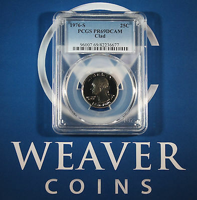 1976-S Washington Quarter PCGS PR69DCAM CLAD