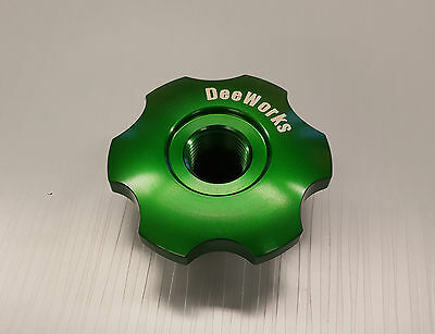 Honda Acura Vented Billet Oil Cap 1/2 NPT Green