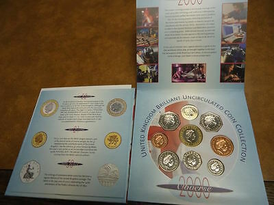 2000 Millenium United Kingdom Unicrculated Coin Collection Set