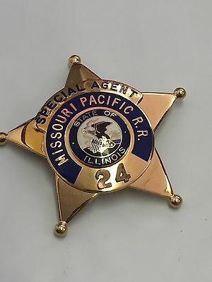 Missouri Pacific R.R. Police badge