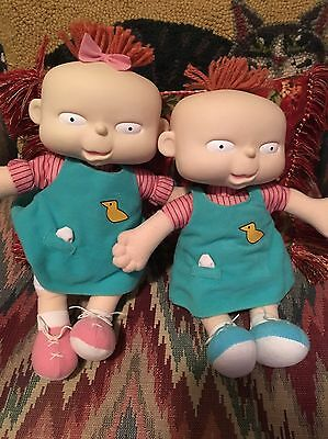 1998 Phil and Lil Dolls From Rugrats Including A Rugrats Laundry Bag