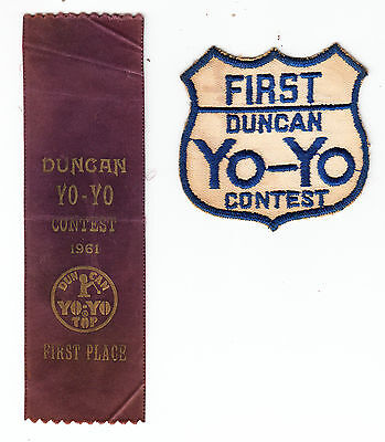Duncan Yoyo Contest 1St Place Ribbon/patch 1961
