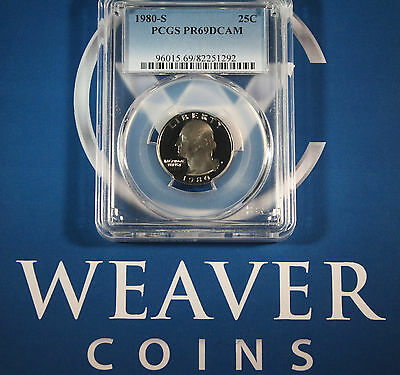 1980-S Washington Quarter PCGS PR69DCAM
