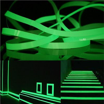 10M Self-adhesive Safety Warning Tape Luminous Tape Safety Stage Glow In Dark